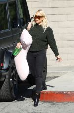 Hilary Duff Doing some Christmas Shopping at Paper Source in Los Angeles