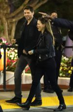 Hilary Swank Arriving at the fleetwood mac concert in Inglewood
