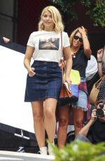 Holly Willoughby Models for a denim-themed fashion shoot on the streets of Sydney