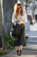 Isla Fisher Out in Beverly Hills
