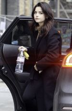 Jenna Coleman Dropped at a studio in North London