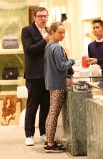 Jennifer Meyer Opts for a fresh faced look while out Christmas shopping on Rodeo Drive