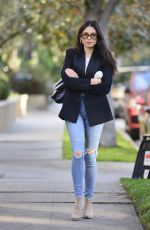 Jessica Gomes Arrives at a business meeting looking trendy in LA