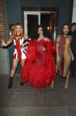 Jesy Nelson,Jade Thirlwall,Leigh-Anne Pinnock at Jade Thirlwall's Icon and Idol themed birthday party at Patch in London