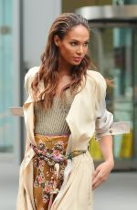 Joan Smalls Poses For A Fake Bill Cunningham During A Photoshoot In NYC