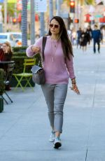 Jordana Brewster At Christmas shopping on Rodeo Drive in Beverly Hills