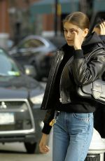 Kaia Gerber Arrives at the Alexander Wang fashion show at Hanson Place in Brooklyn, New York