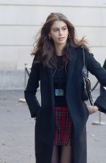 Kaia Gerber Entering the Chanel show at Metropolitan Museum of Art in New York City