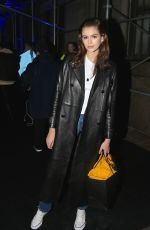 Kaia Gerber Seen at the Versace fashion show in New York