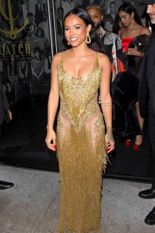 Karrueche Tran In gold at Diddy
