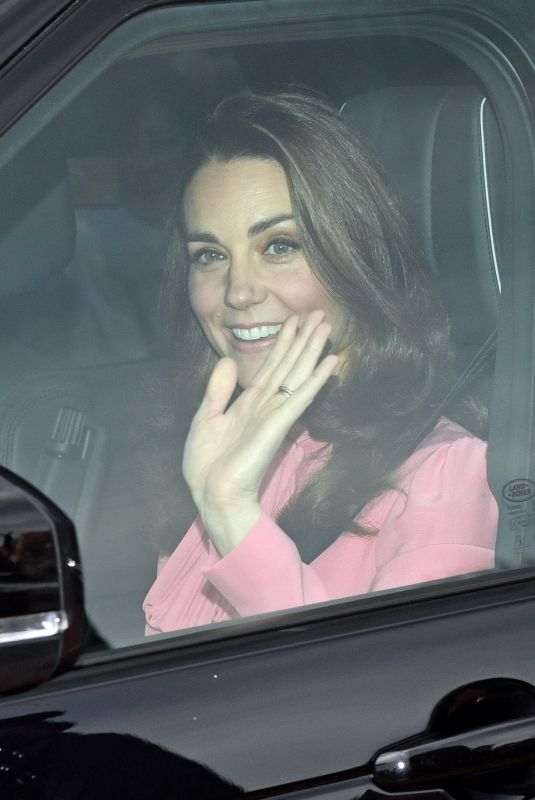 Kate Middleton Departs Kensington Palace to attend the Queen