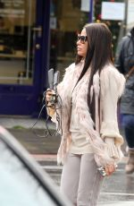 Katie Price Returns to her car from the hairdressers in WORTHINGTON