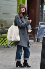 Keira Knightley and Jame Righton are seen scoffing on Kebabs walking down the street in East London