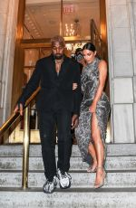 Kim Kardashian and Kanye West look dressed up for the Cher musical in New York