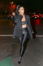 Kim Kardashian Outside sugarfish in Calabasas