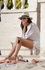 Lauren Silverman On family holiday in Barbados