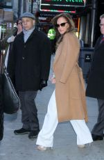 Leah Remini Arrives at GMA to promote Second Act, NYC