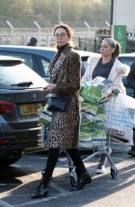 Lilly Becker Shopping at her local Waitrose supermarket in London