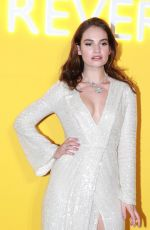 Lily James Poses during a press conference for Bvlgari