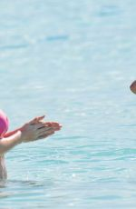 Lottie Moss & Emily Blackwell On the beach in Barbados