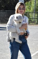 Lucy Hale At the Dog park in Los Angeles