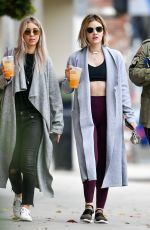 Lucy Hale Has a workout and some fun with her friends in Los Angeles