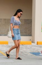 Lucy Watson Leaving a supermarket in Barbados