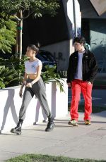 Madison Beer Steps out with Zack Bia in LA