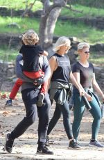 Malin Akerman Enjoys a hike with her husband Jack Donnelly and her son in Los Angeles