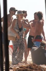 Malin Akerman In a swimsuit at a beach in Mexico