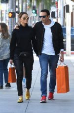 Maria Menounos and husband Keven Undergaro walk arm in arm after shopping in Beverly Hills