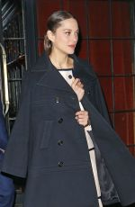 Marion Cotillard On her way to CHANEL Paris New York Meitiers d