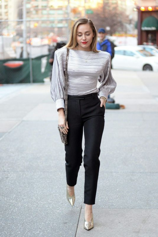 Miley Cyrus Arriving at the Z100 Radio Station in New York