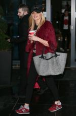 Nadia Bychkova At Strictly Come Dancing Celebrities and Dancers seen leaving their hotel, London
