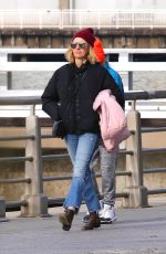 Naomi Watts Goes out for a walk with her kids around Manhattan
