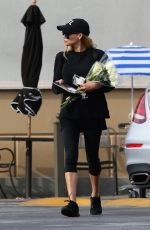 Naya Rivera Goes flower shopping ahead of the Christmas holiday