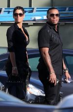 Nicole Murphy Out for a date at Republique with a mystery man in Los Angeles