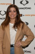 Nikki Sanderson At The Launch Of The New SsangYong Musso Pick Up Truck At Fun Motor Group In Darwen