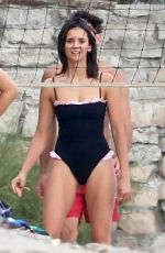 Nina Dobrev Playing Beach Volleyball in Malibu