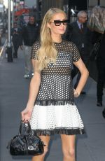 Paris Hilton Arrives for an interview at Sirius in NY
