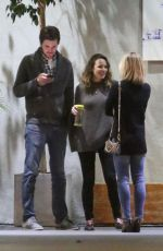 Rachel McAdams and Jamie Linden cuddle up on a cold night after dinner in LA