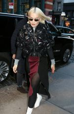 Rita Ora Arrives at a downtown hotel in NY