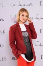 Rosie Huntington Whiteley Attends day three of ELLE Weekender at The Saatchi Gallery in London