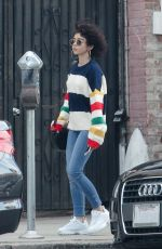 Sarah Hyland Leaves a sweat therapy center in LA