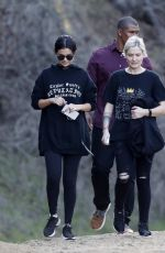 Selena Gomez Hiking with friends in Los Angeles