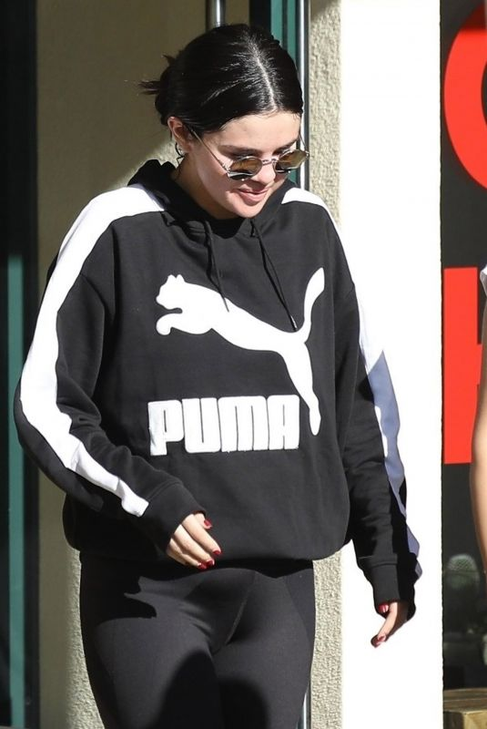 Selena Gomez Out for a morning pilates session with friends in Hollywood