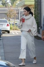 Selena Gomez Starts the year in white wearing no bra as she goes out in Los Angeles