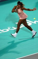 Serena Williams During 2018 Mubadala World Tennis Championship in Abu Dhabi