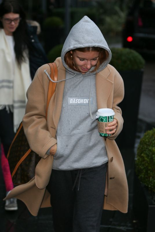 Stacey Dooley At Strictly Come Dancing Celebrities and Dancers seen leaving their hotel, London