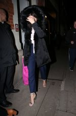 Stacey Solomon Covers face as she exits Strictly It Takes Two in London